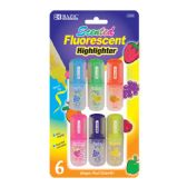144 Units of BAZIC Fruit Scented Mini Highlighters (6/Pack) - Markers and Highlighters