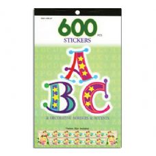 72 Units of Alphabetical Series Assorted Sticker (600/Pack) - Stickers