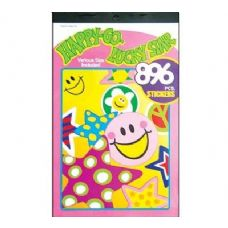 60 Units of Happy Star Series Assorted Sticker (896/Pack) - Stickers