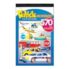 72 Units of Vehicle Series Assorted Sticker (570/Pack) - Stickers
