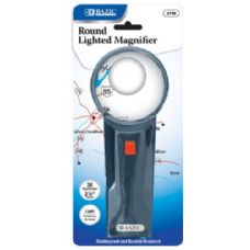"144 Units of BAZIC 2.5"" Round 3x Lighted Magnifier - Magnifying  Glasses"