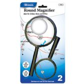 "48 Units of BAZIC 3.5"" & 2.5"" Round Handheld Magnifier Sets (2/Pack) - Magnifying  Glasses"