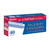 48 Units of BAZIC #10 Peel & Seal Security Envelope (40/Pack) - Envelopes
