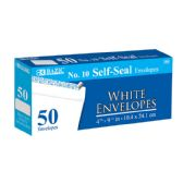 48 Units of BAZIC #10 Peel & Seal White Envelope (50/Pack) - Envelopes