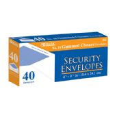 48 Units of BAZIC #10 Security Envelope w/ Gummed Closure (40/Pack) - Envelopes
