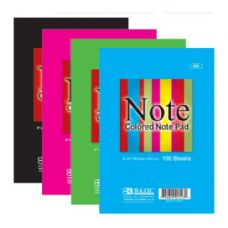 "48 Units of BAZIC 100 Ct. 4"" X 6""  Colored Note Pad - Notebooks"
