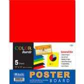 "48 Units of BAZIC 11"" X 14"" Multi Color Poster Board (10/Pack) - Paper"