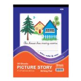 "96 Units of BAZIC 30 Ct. 9"" X 12"" Picture Story Pad - Paper"