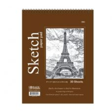 "48 Units of BAZIC 30 Ct. 9"" X 12"" Top Bound Spiral Premium Sketch Pad - Paper"