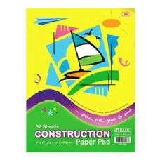 "96 Units of BAZIC 32 Ct. 9"" X 12"" Construction Paper Pad - Paper"