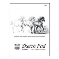 "48 Units of BAZIC 40 Ct. 9"" X 12"" Premium Sketch Pad - Paper"