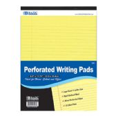 "48 Units of BAZIC 50 Ct. 8.5"" X 11.75"" Canary Perforated Writing Pad - Notebooks"