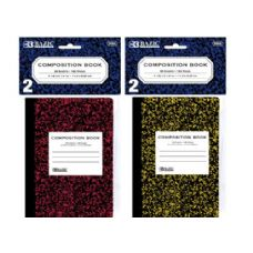 """72 Units of BAZIC 80 Ct. 4.5"""" x 3.25"""" Mini Marble Composition Book (2/Pack) - Notebooks"""