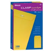 "5 Units of BAZIC 9"" X 12"" Clasp Envelope (100/Box) - Envelopes"
