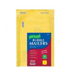 "72 Units of BAZIC 9.5"" X 13.5"" (#4) Self Sealing Bubble Mailers (2/Pack) - Boxes & Packing Supplies"