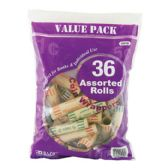 50 Units of BAZIC Assorted Size Coin Wrappers (36/Pack)