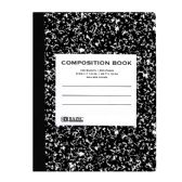 48 Units of BAZIC C/R 100 Ct. Black Marble Composition Book - Notebooks