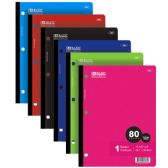 48 Units of BAZIC C/R 80 Ct. 1-Subject Wireless Notebook - Notebooks