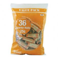 50 Units of BAZIC Quarter Coin Wrappers (36/Pack) - Coin Holders/Banks/Counter