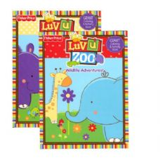 48 Units of Fisher-Price Luv U Zoo Giant Coloring & Activity Book - Coloring & Activity Books
