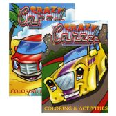 48 Units of JUMBO CRAZY CARZZZ Coloring & Activity Books - Coloring & Activity Books