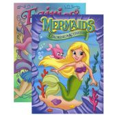 48 Units of JUMBO FAIRIES / MERMAIDS Coloring & Activity Book - Coloring & Activity Books