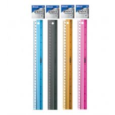 "144 Units of BAZIC 12"" (30cm) Aluminium Ruler - Rulers"