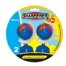 "144 Units of BAZIC 3"" Globe Sharpener (2/Pack) - Sharpeners"