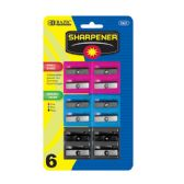144 Units of BAZIC Dual Blades Square Sharpener (6/Pack) - Sharpeners