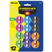 144 Units of BAZIC Round Pencil Sharpener (12/Pack) - Sharpeners