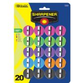144 Units of BAZIC Round Pencil Sharpener (20/Pack) - Sharpeners