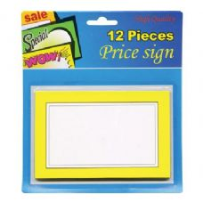 "24 Units of 5.5"" X 3.5"" Blank Price Sign (12/Pack) - Signs & Flags"