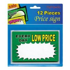 "24 Units of 5.5"" X 3.5"" Everyday Low Price Sign (12/Pack) - Signs & Flags"