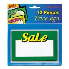 "24 Units of 5.5"" X 3.5"" Sale Price Sign (12/Pack) - Signs & Flags"