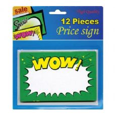 "24 Units of 5.5"" X 3.5"" Wow Price Sign (12/Pack) - Signs & Flags"