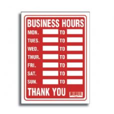 "144 Units of 9"" X 12"" Business Hours Sign - Signs & Flags"