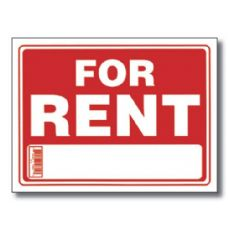 "144 Units of 9"" X 12"" For Rent Sign - Signs & Flags"