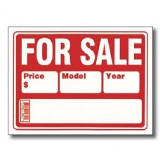 "144 Units of 9"" X 12"" For Sale Sign (2-Line) - Signs & Flags"