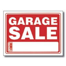 "24 Units of 9"" X 12"" Garage Sale Sign - Signs & Flags"
