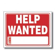 "144 Units of 9"" X 12"" Help Wanted Sign - Signs & Flags"