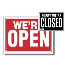 "144 Units of 9"" X 12"" Open Sign w/ Closed Sign on Back - Signs & Flags"
