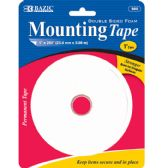 """144 Units of BAZIC 1"""" X 200"""" Double Sided Foam Mounting Tape - Tape"""