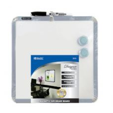 "12 Units of BAZIC 11"" X 11"" Magnetic Dry Erase Board w/ Marker & 2 Magnets - Dry Erase"