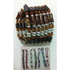 """144 Units of 36"""" Magnetic Necklace--Painted Cylinder Beads - Necklace"""