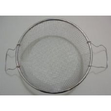 """100 Units of 8.5"""" Round Metal Strainer with Two Handles [Deep Fryer Basket] - Strainers & Funnels"""