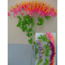 288 Units of 80 Head Small Glittery Spray Flower - Artificial Flowers