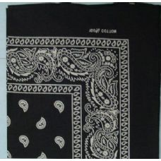 48 Units of Bandana-Black Paisley - Bandanas