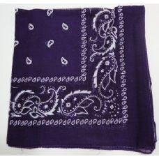 48 Units of Bandana-Dark Purple Paisley - Bandanas