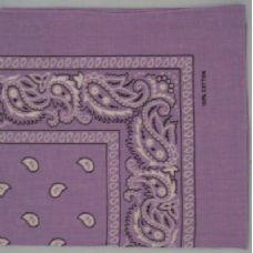 120 Units of Bandana-Light Purple Paisley - Bandanas