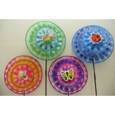 "120 Units of 14"" Triple Round Wind Spinner [Fly/Bug/Bee] - Wind Spinners"